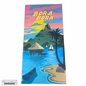 Hand Painted Bora Bora Inspired Art